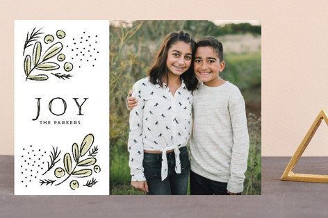 Cheerful branches Holiday Postcards