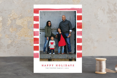 Candy Cane Watercolor Holiday Postcards