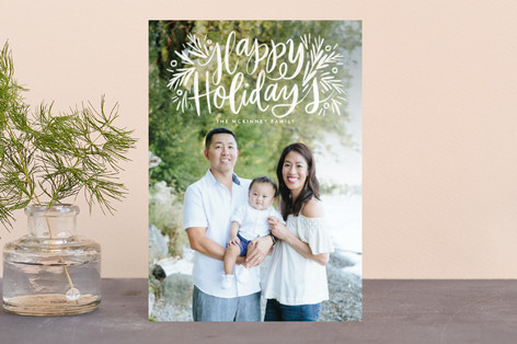 Painted Message Pine Holiday Postcards