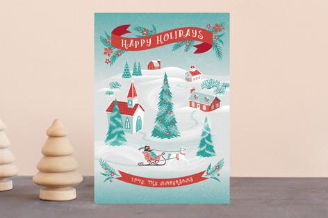 Christmas Village Holiday Postcards