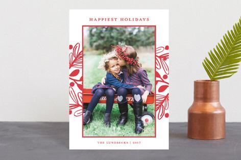 Fun Botanical Frame Holiday Postcards