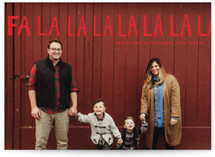 Handlettered Fa La La La La Holiday Postcards