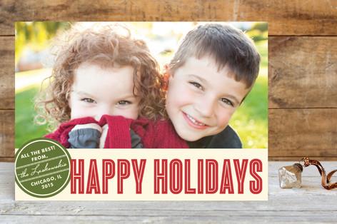 Retro Peace Holiday Postcards