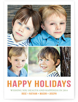 Minimal Trio Holiday Postcards