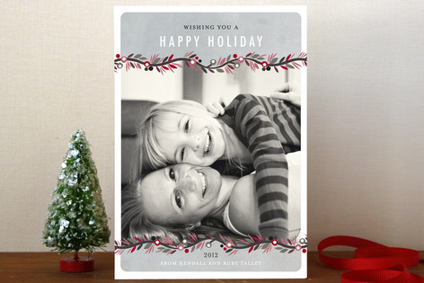 Canvas Garland Holiday Postcards