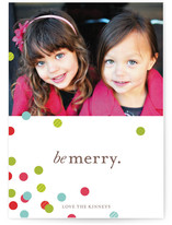 Confetti Scatter Holiday Postcards