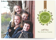 Joyful Modern Wreath Holiday Postcards