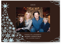 Snowflake Tree Holiday Postcards