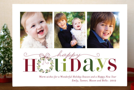 Red Holiday Holiday Postcards