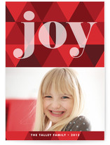 Joy Geometric Holiday Postcards