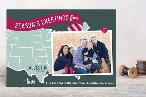 Holiday Map - Midwest Holiday Postcards