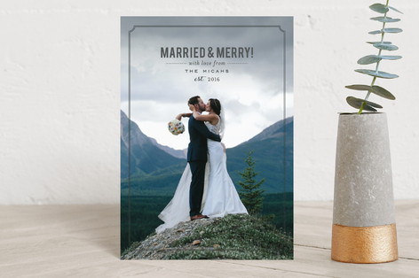 Married and Merry! Holiday Postcards