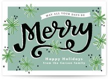 Merry Snowflakes Holiday Postcards
