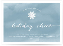 Watercolored Cheer Holiday Postcards