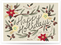 Holiday Flowers Holiday Postcards