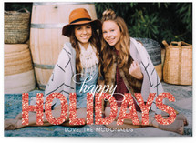 Glitter Holiday Postcards