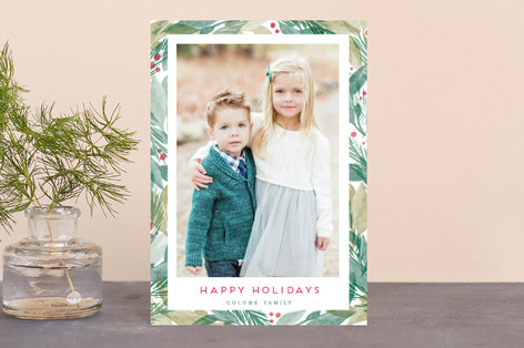 Bright Evergreens Holiday Postcards