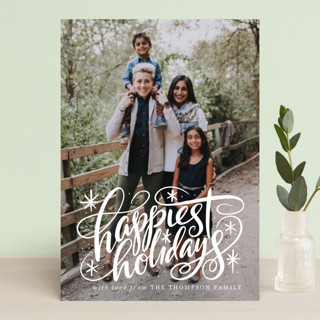 Hand Lettered Happiest Holidays Holiday Postcards