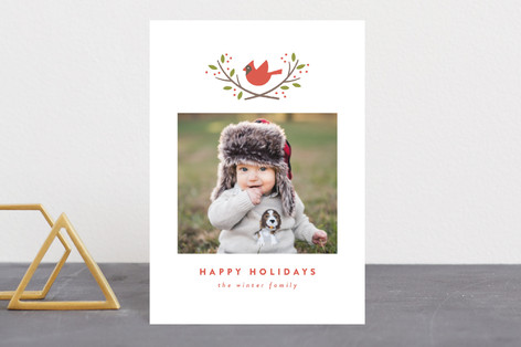 cardinal crest Holiday Postcards