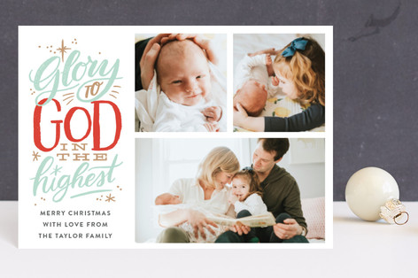 Glory to God in the Highest Star Holiday Postcards
