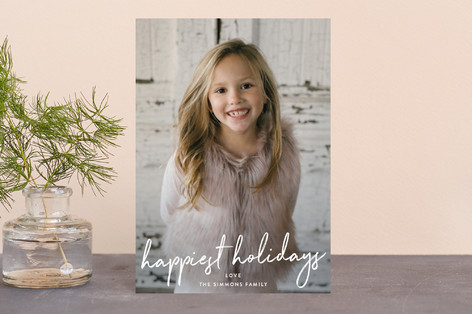 Simple Script Holiday Postcards