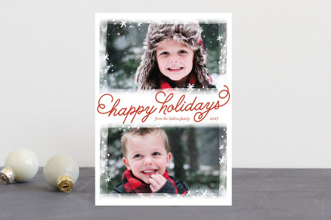 Frosted Frames Holiday Postcards