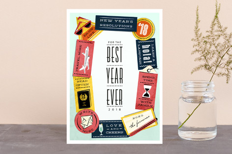 New Year's Resolutions Holiday Postcards