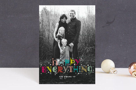 Colorful Happy Everything Holiday Postcards