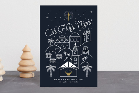 Bethlehem at Night Holiday Postcards