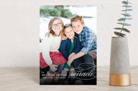 Believe In The Miracle Holiday Postcards