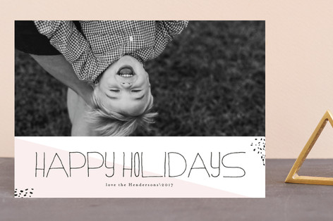 Hipster Merry Holiday Postcards