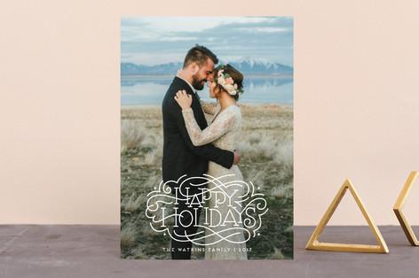 Flourished Holidays Holiday Postcards