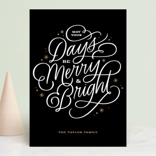 Scripted Merry Holiday Postcards
