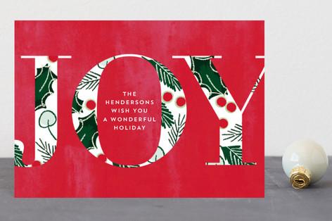 Joyful Fade Holiday Postcards