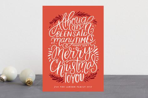 many times, many ways Holiday Postcards