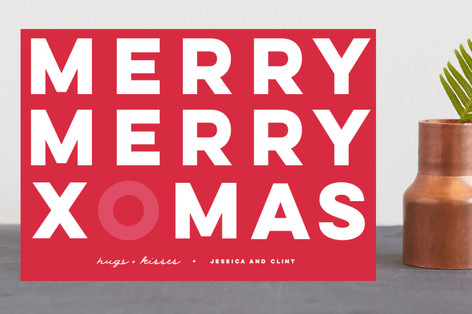 Christmas hugs Holiday Postcards