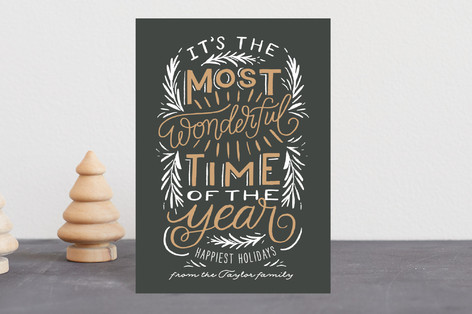 Most Wonderful Time of the Year Holiday Postcards