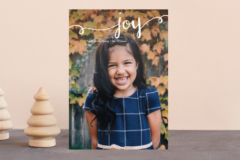 Hand Painted Joy Holiday Postcards