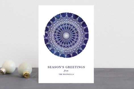 Bohemian Snowflake Holiday Postcards