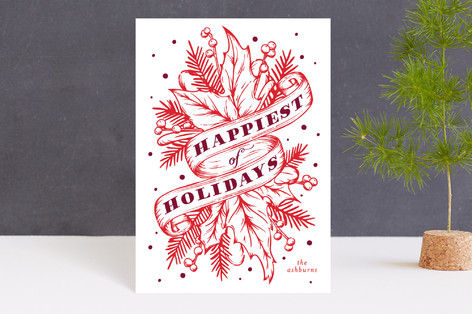 Boughs of Holly Holiday Postcards