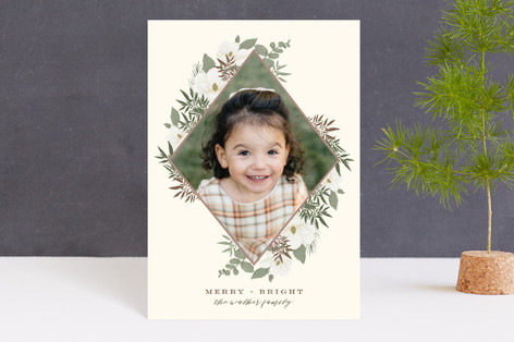 Gilded Diamond Blooms Holiday Postcards