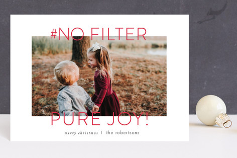 no filter Holiday Postcards