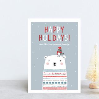 Polar Bear Wishes Holiday Postcards