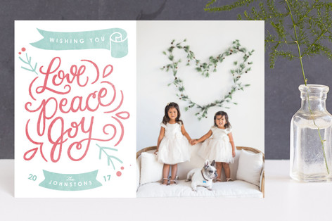 Hand Lettered Love Holiday Postcards