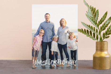 Making Spirits Oh So Bright Holiday Postcards