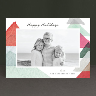 abstract trees Holiday Postcards