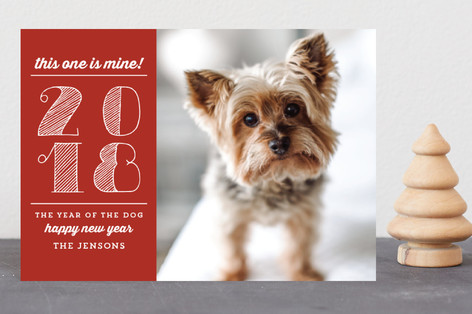 Year of the Dog Holiday Postcards