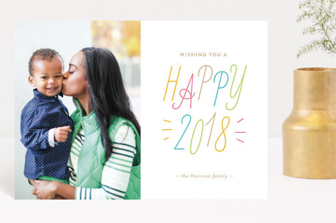 Confetti Color Holiday Postcards