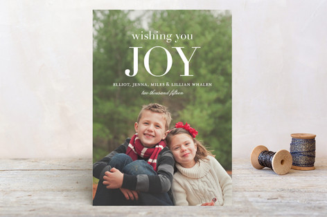 Wishing You Joy Holiday Postcards