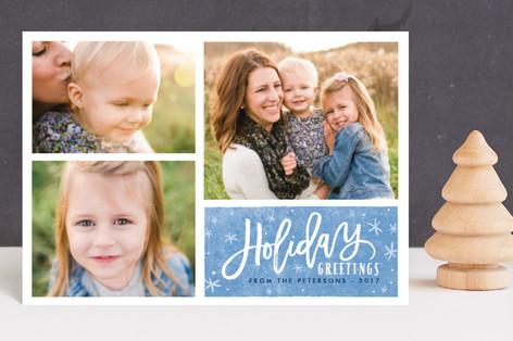 sparkly Christmas Holiday Postcards